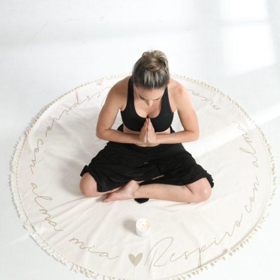 Manta de meditacion respiro beige