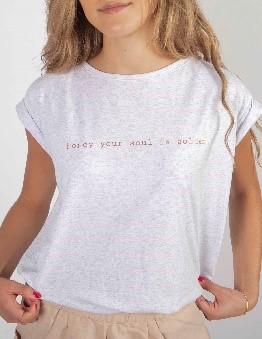 Camiseta gris Honey your soul is golden